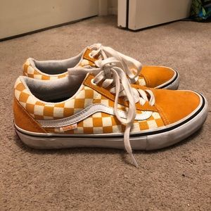 Yellow Checkered Old Skool Vans
